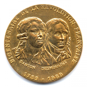 (FMED.Méd.even.1989.CuAlNi-3.000000002) Jeton événementiel - Danton et Desmoulins Avers (zoom)