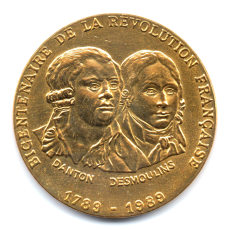 (FMED.Méd.even.1989.CuAlNi-3.000000002) Jeton événementiel - Danton et Desmoulins Avers