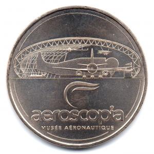 (FMED.Méd.tourist.2016.CuNi-1.000000002) Jeton touristique - Aeroscopia Avers (zoom)