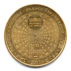 (FMED.Méd.tourist.2017.CuAlNi1.1.000000002) Jeton touristique - Abbaye du Mont Saint-Michel Revers