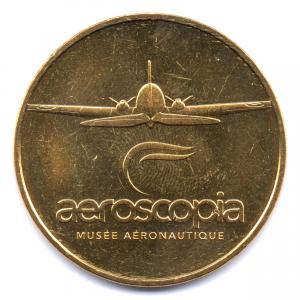 (FMED.Méd.tourist.2017.CuAlNi2.000000002) Jeton touristique - Aeroscopia Avers (zoom)