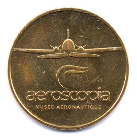 (FMED.Méd.tourist.2017.CuAlNi2.000000002) Jeton touristique - Aeroscopia Avers
