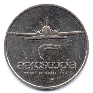 (FMED.Méd.tourist.2017.CuNi1.000000002) Jeton touristique - Aeroscopia Avers (zoom)