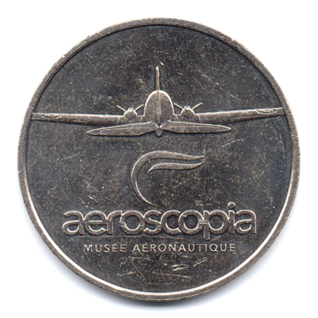 (FMED.Méd.tourist.2017.CuNi1.000000002) Jeton touristique - Aeroscopia Avers
