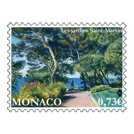 (PHILEUR12.073.2017.1) 0,73 euro Monaco 2017 - Jardins Saint-Martin