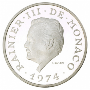 (W150.10000.1974.1.000000001) 100 Francs Prince Rainier III 1974 Avers (zoom)