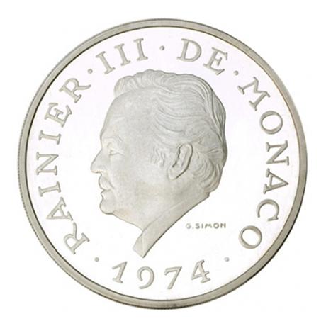 (W150.10000.1974.1.000000001) 100 Francs Prince Rainier III 1974 Avers