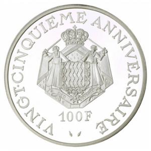 (W150.10000.1974.1.000000001) 100 Francs Prince Rainier III 1974 Revers (zoom)
