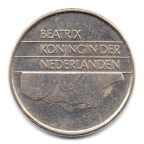 (W172.025.1984.1.6.000000001) 25 cent Beatrix 1984 Avers