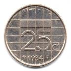 (W172.025.1984.1.6.000000001) 25 cent Beatrix 1984 Revers
