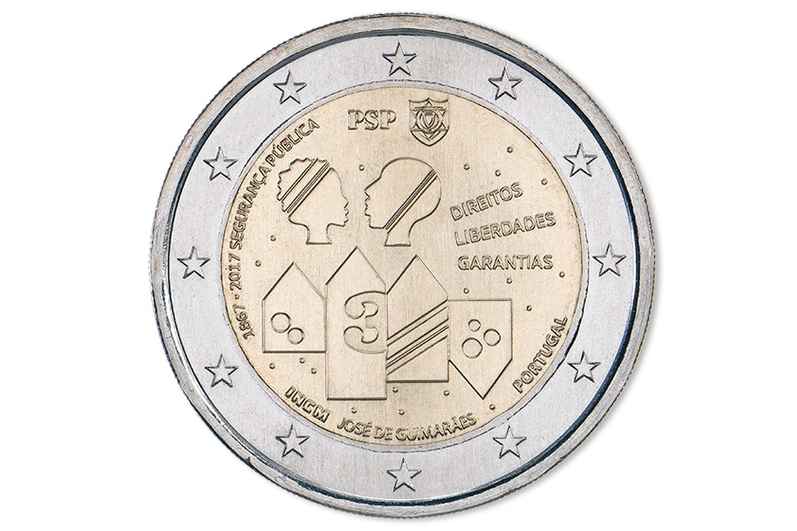 (EUR15.200.2017.12500398) 2 euro Portugal 2017 - Public security Obverse (zoom)