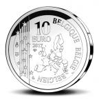 10 euro Belgique 2017 argent BE - Till l'Espiègle Avers