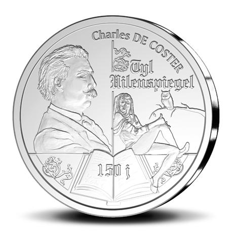 10 euro Belgique 2017 argent BE - Till l'Espiègle Revers