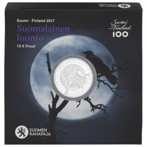 10 euro Finlande 2017 argent BE - Nature finlandaise (écrin) (zoom)