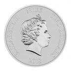 2 dollars Niue 2018 1 once argent - Année du Chien Avers