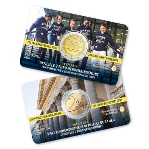 2 euro commémorative Belgique 2017 BU - Université de Gand (zoom)