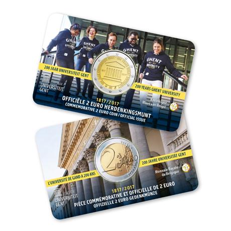2 euro commémorative Belgique 2017 BU - Université de Gand