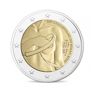 2 euro commémorative France 2017 - Lutte contre le cancer du sein Avers (Zoom)