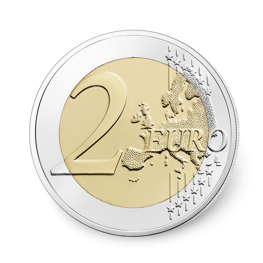 2 euro comm morative france 2017 lutte contre le cancer du sein elys es numismatique. Black Bedroom Furniture Sets. Home Design Ideas