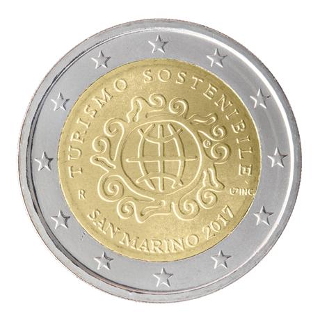2 euro commémorative Saint-Marin 2017 - Année Internationale du Tourisme Durable pour le Développement