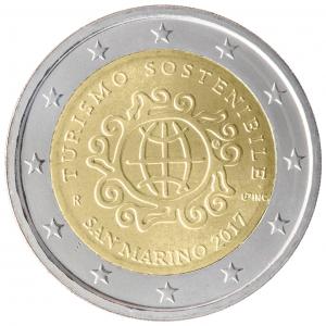 2 euro commémorative Saint-Marin 2017 - Tourisme Durable pour le Développement Avers (zoom)