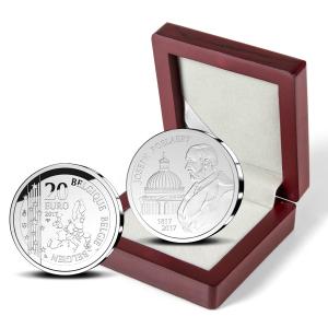 20 euro Belgique 2017 argent BE - Joseph Poelaert (écrin) (zoom)