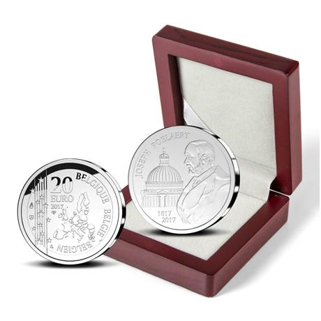 20 euro Belgique 2017 argent BE - Joseph Poelaert (écrin)
