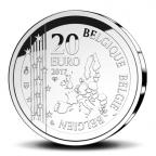 20 euro Belgique 2017 argent BE - Joseph Poelaert Avers