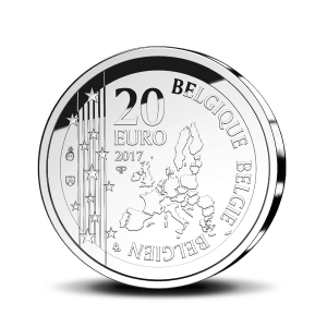 20 euro Belgique 2017 argent BE - Joseph Poelaert Avers (zoom)