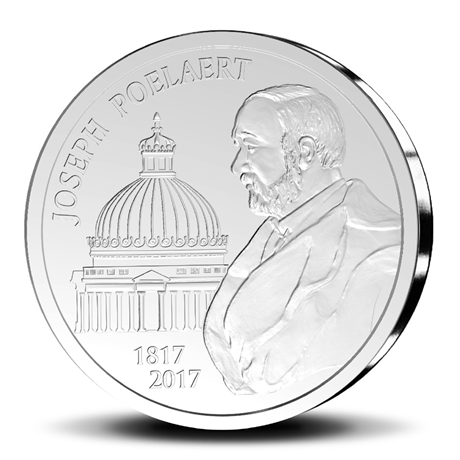 20 euro Belgique 2017 argent BE - Joseph Poelaert Revers