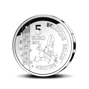 5 euro Belgique 2017 - Gaston Lagaffe Avers (zoom)