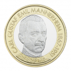 5 euro Finlande 2017 - Carl Gustaf Emil Mannerheim Revers