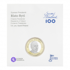 5 euro Finlande 2017 UNC - Risto Ryti (packaging)