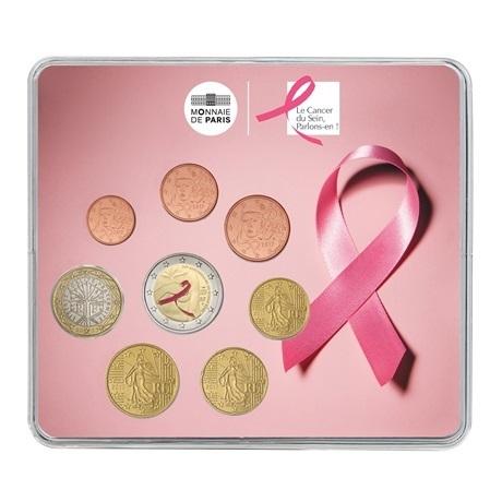(EUR07.CofBU&FDC.2017.10041307330000) Mini-set BU France 2017 - Lutte contre le cancer du sein Recto