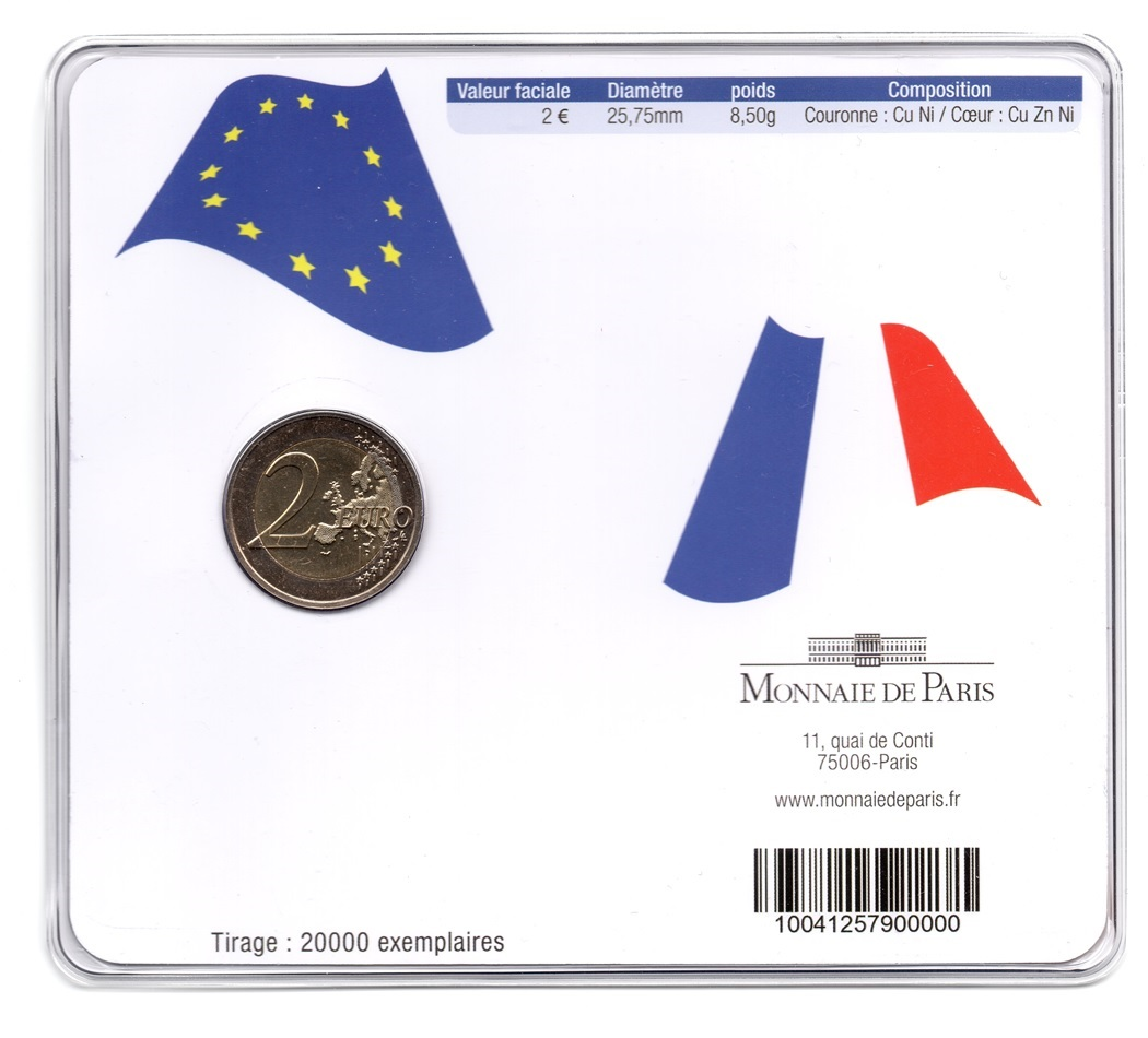 (EUR07.ComBU&BE.2009.200.BU.10041257900000) 2 euro France 2009 BU - Economic & Monetary Union Back (zoom)