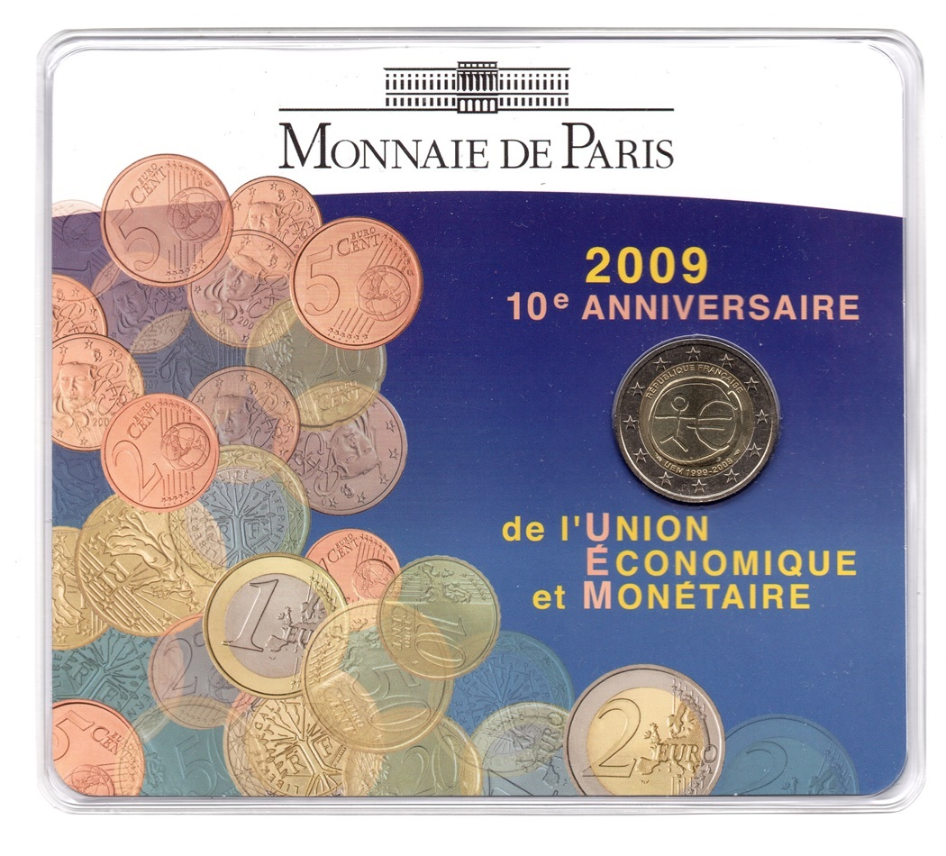 (EUR07.ComBU&BE.2009.200.BU.10041257900000) 2 euro France 2009 BU - Economic & Monetary Union Front (zoom)