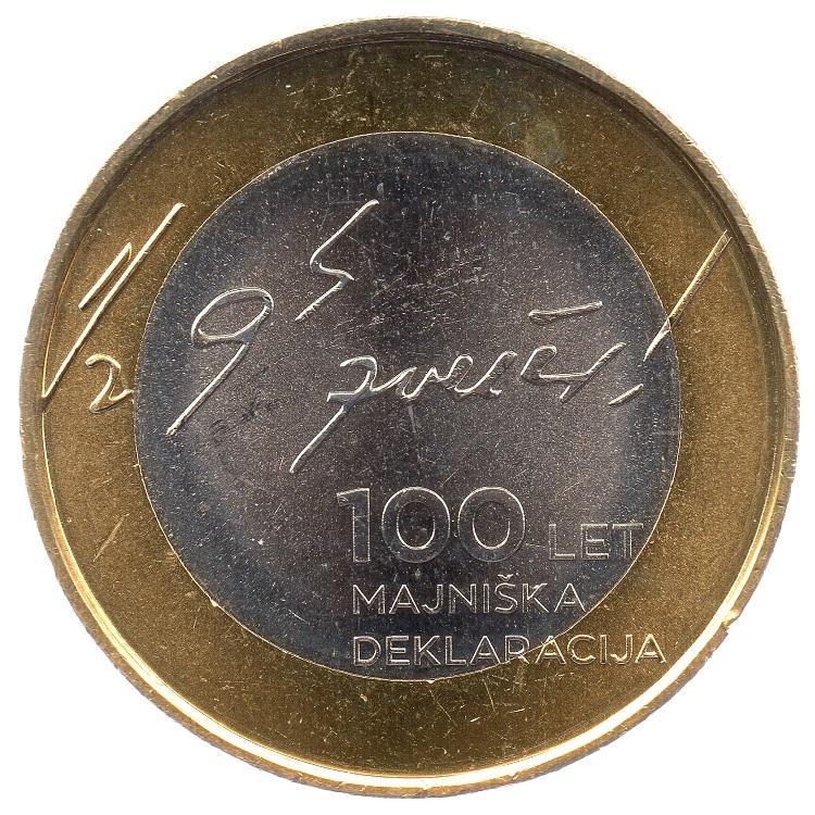 (EUR16.300.2017.COM1.000000001) 3 euro Slovenia 2017 - May Declaration Reverse (zoom)