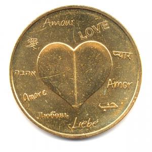 (FMED.Méd.souvenir.2015.CuAlNi1.000000002) Jeton souvenir - Amour Avers (zoom)
