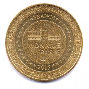 (FMED.Méd.souvenir.2015.CuAlNi1.000000002) Jeton souvenir - Amour Revers (zoom)