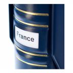 (MAT01.Alb&feu.Alb.321054) Classeur Leuchtturm OPTIMA bleu (étiquette)