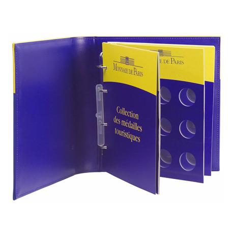 (MATMDP.Cofméd&écr.Cof.10081240260000) Album collector Monnaie de Paris - Jetons touristiques (ouvert)