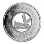 (W073.100.2011.BU&BE.COM1) 1 Dollar Année du Lapin 2011 Avers