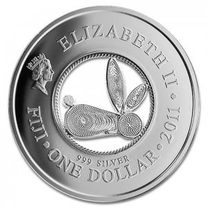 (W073.100.2011.BU&BE.COM1) 1 Dollar Année du Lapin 2011 Avers (zoom)