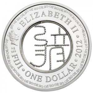 (W073.100.2012.BU&BE.COM1) 1 Dollar Année du Dragon 2012 Avers (zoom)