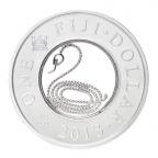 (W073.100.2013.BU&BE.COM1) 1 Dollar Année du Serpent 2013 Avers
