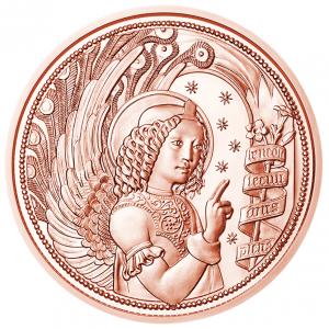 10 euro commemorative coin Austria 2017 - Gabriel, Revealing angel Reverse (zoom)