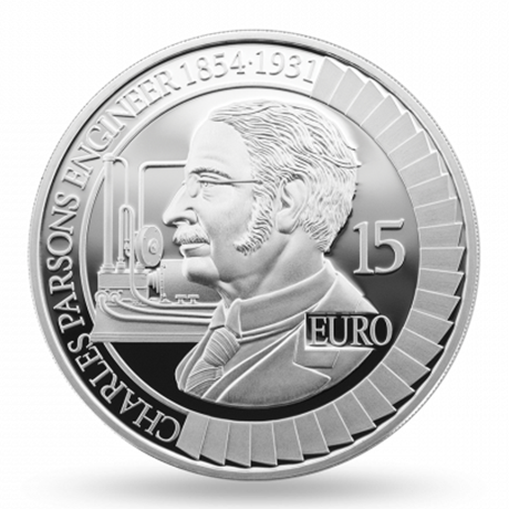 15 euro Irlande 2017 argent BE - Charles Parsons Revers