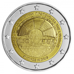 2 euro commemorative coin Cyprus 2017 - Paphos, European capital of culture Obverse (zoom)