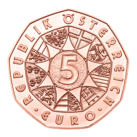 5 euro Autriche 2017 - Agneau pascal Avers