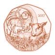 5 euro Autriche 2017 - Agneau pascal Revers